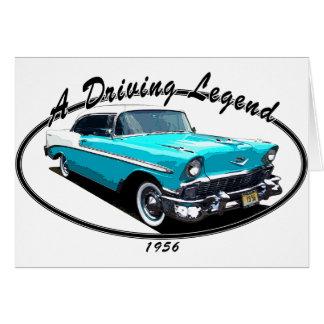 1956 BEL AIR BLUE CARD