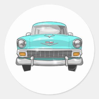 1956 Chevrolet Bel Air Classic Round Sticker