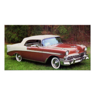 1956 Chevrolet Bel-Air Convertible Posters