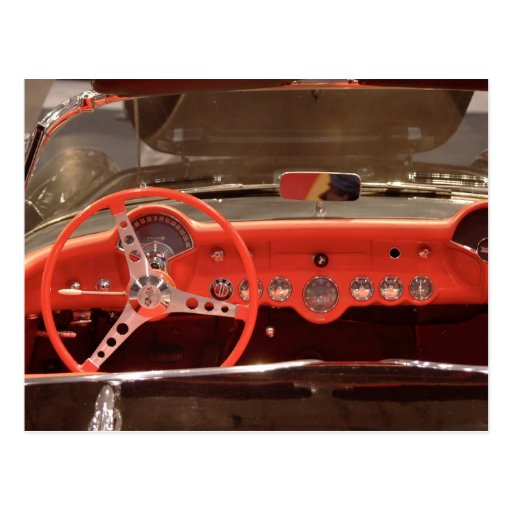 1956 Chevrolet Corvette Steering Wheel and Dash Post Cards