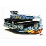 1956 Chevy 150-210 Black Car Postcard