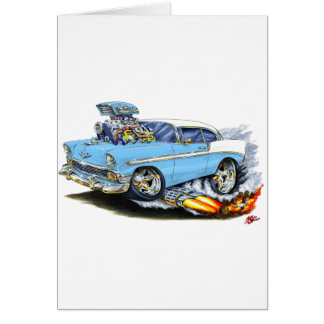 1956 Chevy 150-210 Lt Blue Car Greeting Card