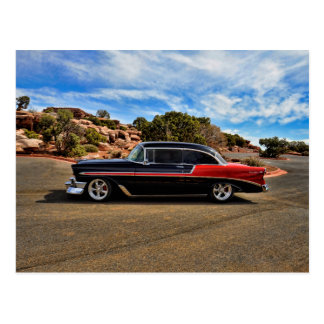 1956 chevy bel air street rod postcard