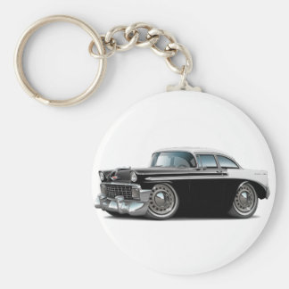 1956 Chevy Belair Black-White Car Keychain