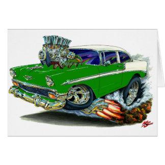 1956 Chevy Belair Green Car Greeting Card