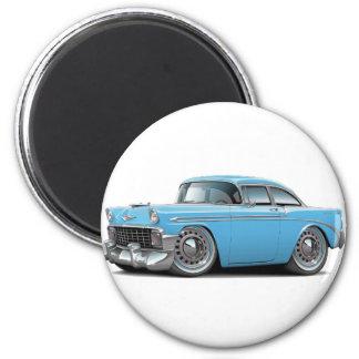 1956 Chevy Belair Lt Blue Car 2 Inch Round Magnet