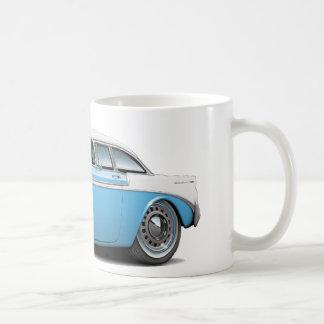 1956 Chevy Belair Lt Blue-White Car Coffee Mug