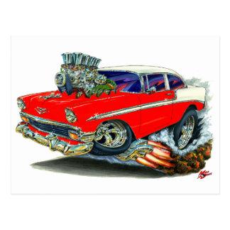 1956 Chevy Belair Red Car Postcard