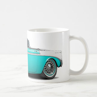 1956 Chevy Belair Turquoise-White Convertible Coffee Mug