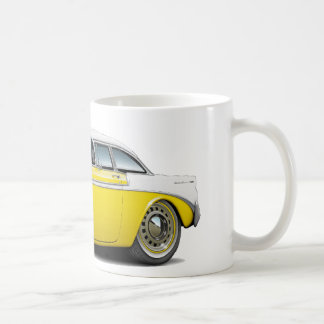 1956 Chevy Belair Yellow-White Car Coffee Mug