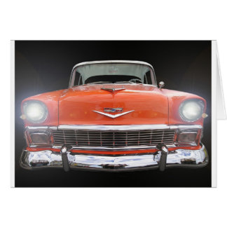 """1956 CHEVY """"LIGHTS ON"""" CARD"""