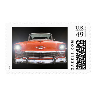 """1956 CHEVY """"LIGHTS ON"""" POSTAGE"""