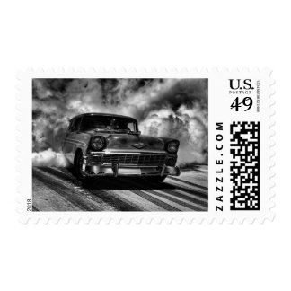 1956 Chevy Nomad Burnout Postage Stamp