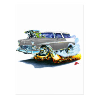 1956 Chevy Nomad Grey Car Postcard