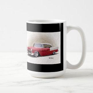 1956 Chevy Red White Digital Art Mug