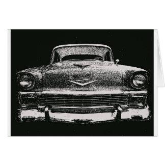 1956 CHEVY SKETCH CARD