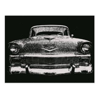 1956 CHEVY SKETCH POSTCARD