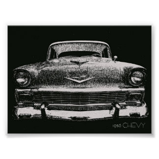 1956 CHEVY SKETCH POSTERS