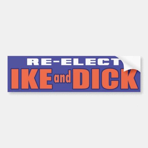 1956 Eisenhower Nixon IKE Bumper Sticker