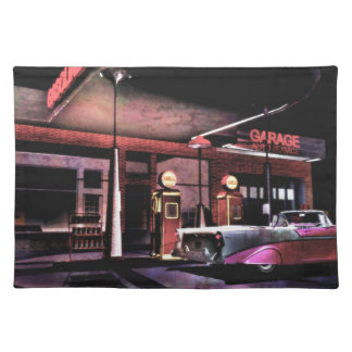1956 Gas Station Cloth Placemat