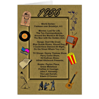1956 Great Events Birthday Card
