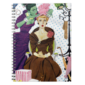 1956 Jealousy whispers into Gloria's ear Spiral Notebook