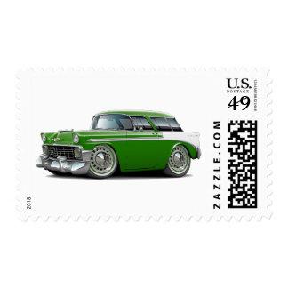 1956 Nomad Green-White Car Postage Stamp