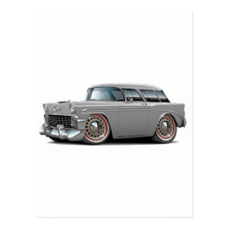 1956 Nomad Grey Car Postcard
