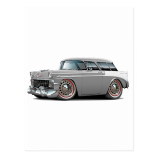 1956 Nomad Grey-White Car Postcard