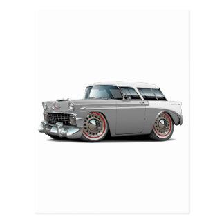 1956 Nomad Grey-White Top Car Postcard