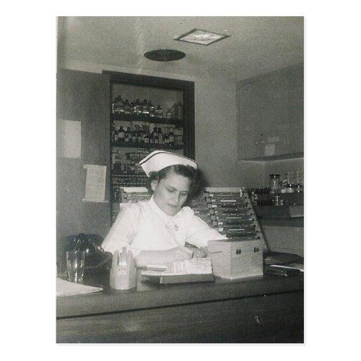 1956 NURSE #11 POSTCARD