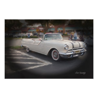 1956 PLYMOUTH CONVERTIBLE POSTER