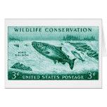 1956 protección de la fauna, salmón tarjeton