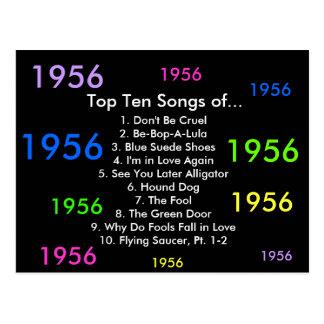 1956 Songs Postcard