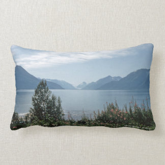 1956 Turnagain Arm, Anchorage Alaska Mountain Lumbar Pillow