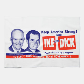 1956 Vote Ike and Dick Kitchen Towel