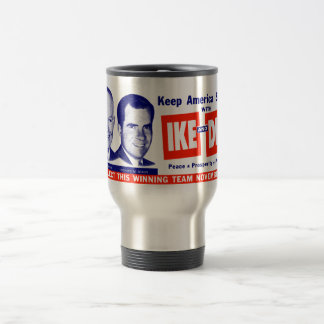 1956 Vote Ike and Dick Travel Mug