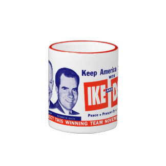 1956 voto Ike y Dick Taza A Dos Colores