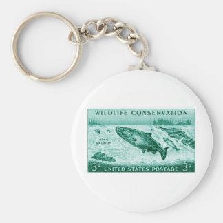 1956 Wildlife Conservation, Salmon Key Chains