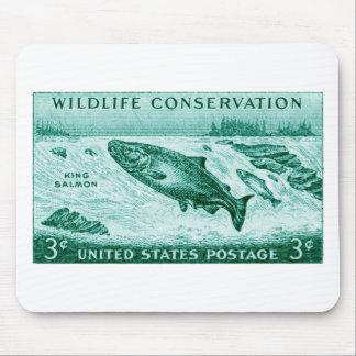 1956 Wildlife Conservation Salmon Mousepads