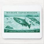 1956 Wildlife Conservation, Salmon Mousepads