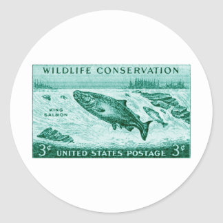 1956 Wildlife Conservation, Salmon Stickers