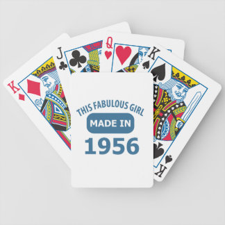 1956 year fabulous designs bicycle playing cards