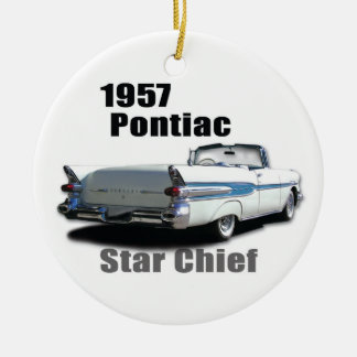 1957 & 1959 PONTIACS CHRISTMAS TREE ORNAMENTS