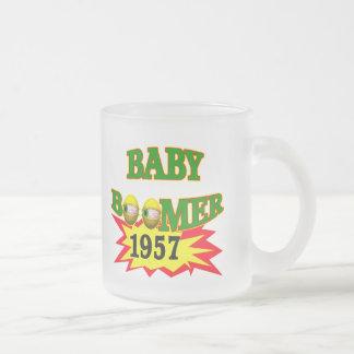 1957 Baby Boomer 10 Oz Frosted Glass Coffee Mug