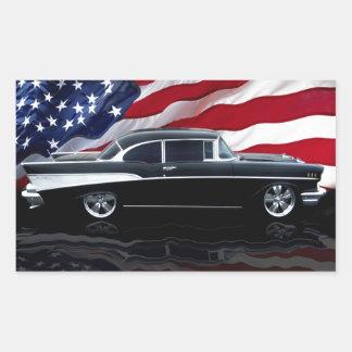 1957 Bel Air Rectangular Sticker