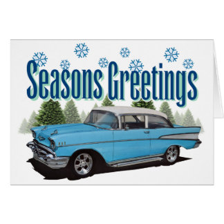 1957 Bel Air with snow Card