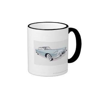 1957 Cadillac with silhouette of driver inside Coffee Mugs