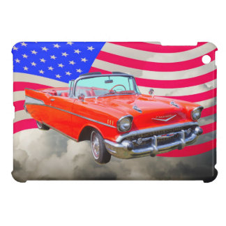 1957 Chevrolet Bel Air And US Flag Case For The iPad Mini