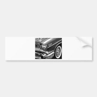 1957 Chevrolet Bel Air Black & White Bumper Sticker